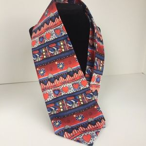 Tie Red & Blue with Hearts